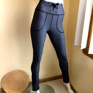 lululemon high rise leggings w/ drawstrings